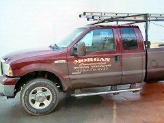 Morgan Roofing Truck